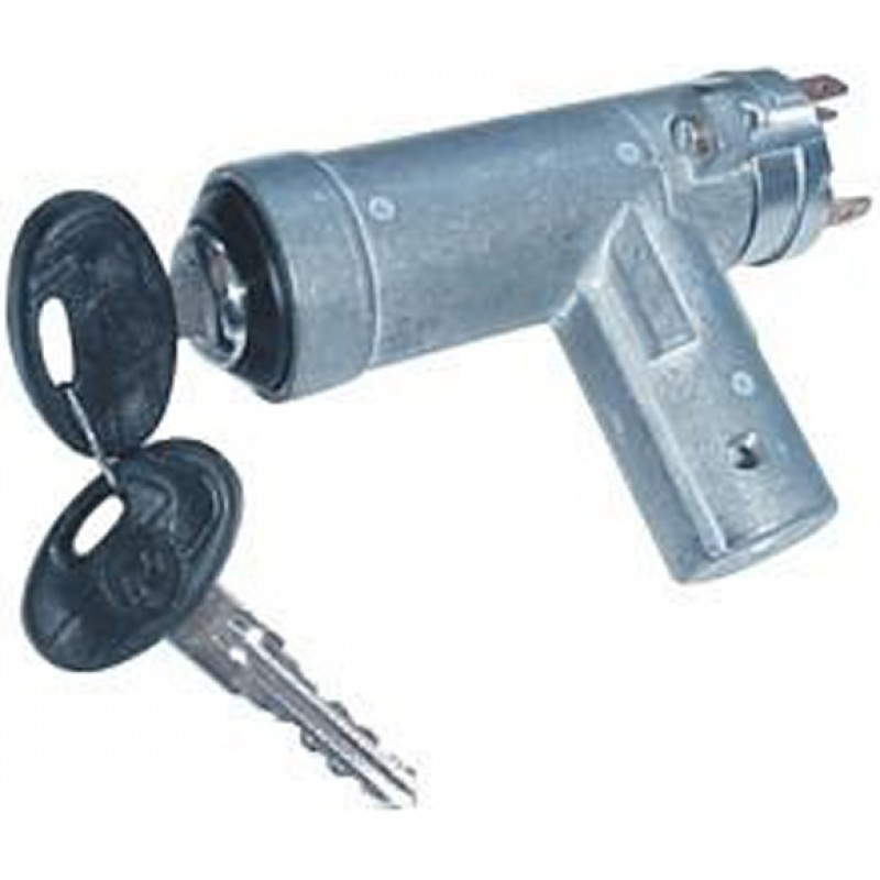 Steering wheel lock with cylinder and old switcher